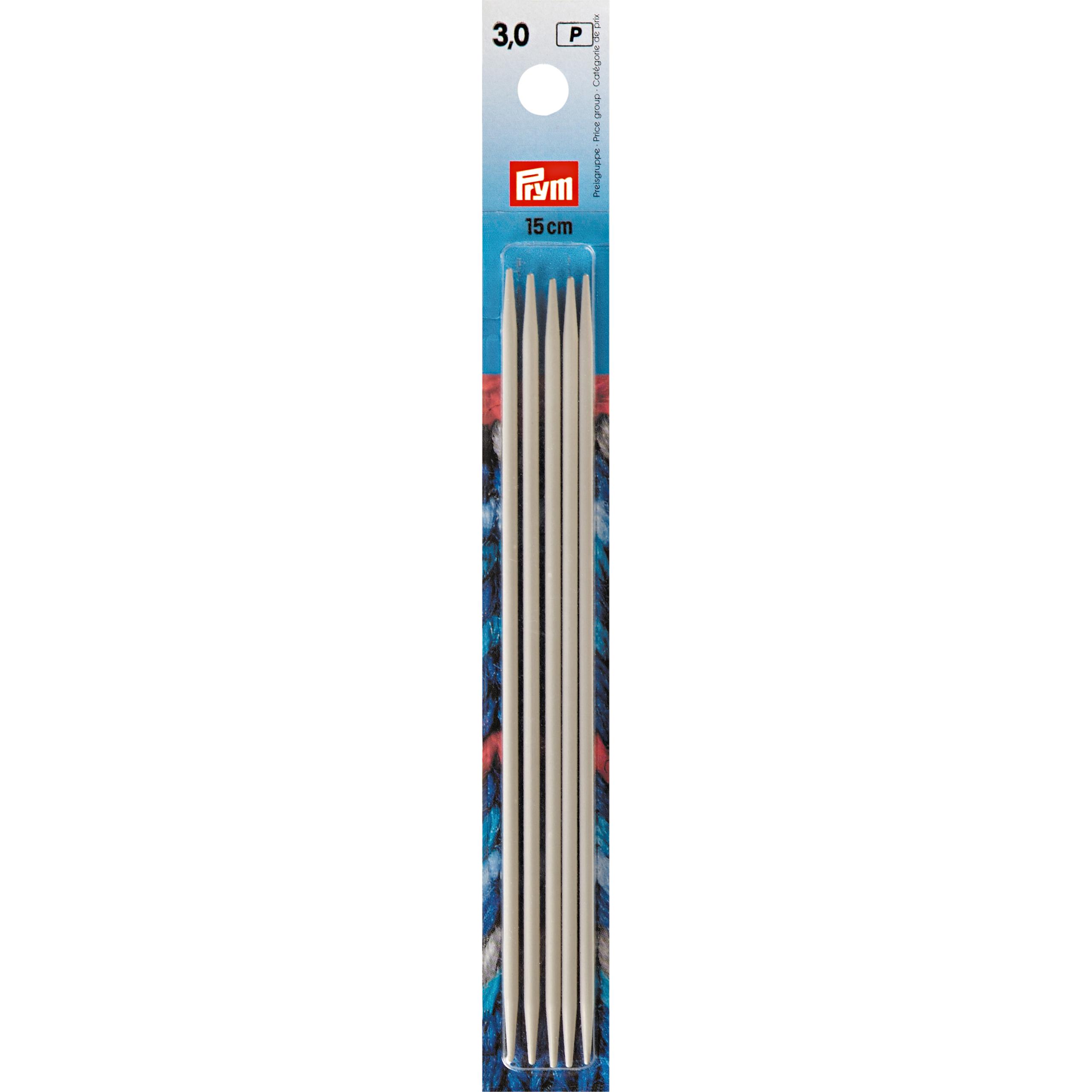 Strumpfstricknadeln ALU 15 cm